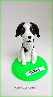 Scultura del tuo cane in fimo personalizzata con il nome, miniatura cane, idee regalo compleanno, regalo cane, regalo amante dei cani