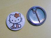 HELLO KITTY pins 25mm diametro