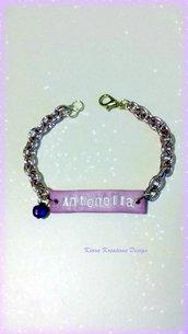 Bracciale con il nome, bracciale colorato, bracciale personalizzato, regalo compleanno, regalo personalizzato, regalo testimone
