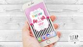 Invito Digitale - Compleanno bambina - Primo compleanno invito - invito Whatsapp - farfalle carine