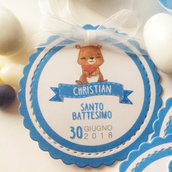 Tag Battesimo Bimbo - Tag Bomboniere - Etichetta Bomboniere - Tag Nascita - Gift Tag - Thank you Tag