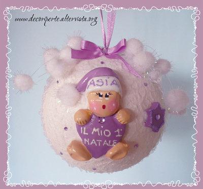NATALE - PALLA NATALIZIA DECORATA