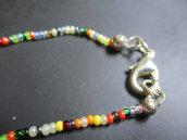 braccialetto perline colorate