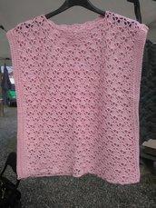 Canotta in cotone rosa