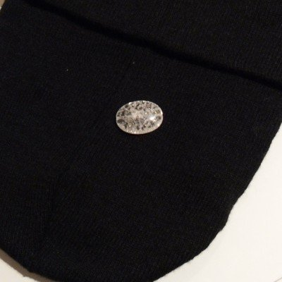 Pietra cristallo boom sasso liscio bianco 25x18mm