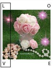 Vasetto pertaconfetti rosa