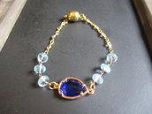 braccialetto argento dorato 925