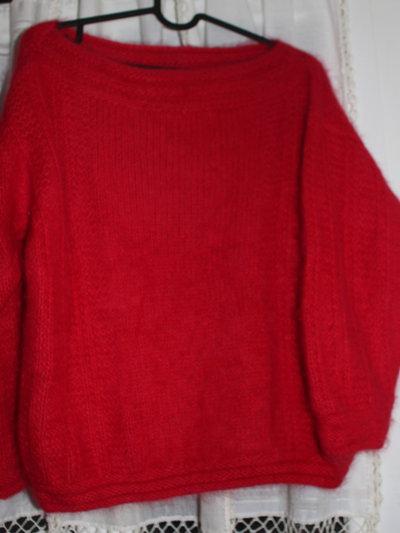 maglia rossa in angora
