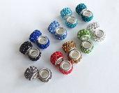 10 Perle a foro largo con strass  PFL250