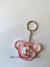 Portachiavi orsetto rosa / bomboniera / regalo / segnaposto