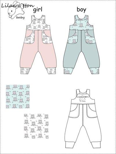 ... cartamodello pdf salopette bimbo jersey da 0 mesi a 24 mesi unisex con  istruzioni ... 51baa5a67c80