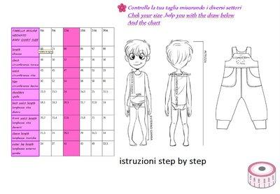 ... cartamodello pdf salopette bimbo jersey da 0 mesi a 24 mesi unisex con  istruzioni 9d80b3de1007