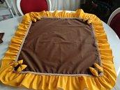 Centro tavola stile rustico marrone e giallo fatto a mano