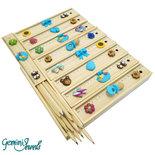 Bomboniera battesimo, scatola di matite colorate, decorata in fimo, fatto a mano