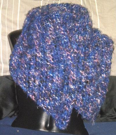 Sciarpa Traforata Blu