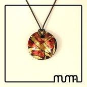 Collana donna con ciondolo in vetro di Murano, comoda e versatile bellissima idea regalo
