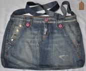 Borsa tracolla da pantalone jeans denim classico