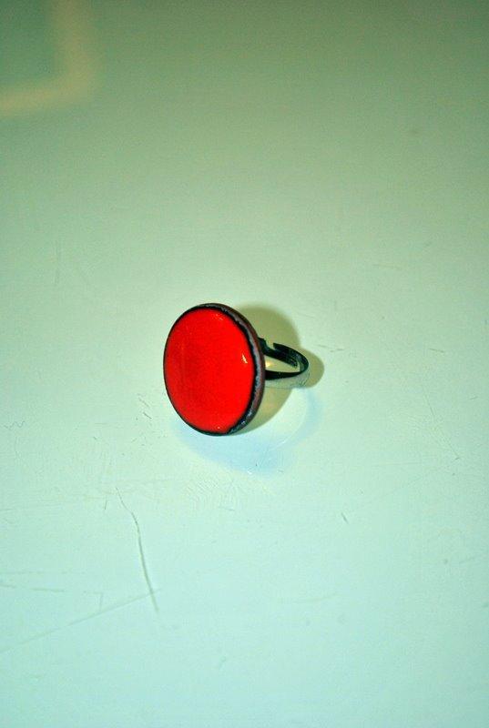 Anello Tondo Rosso