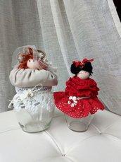 Bamboline vasetto porta oggetti