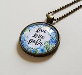 Collana Live Love Poba Azzurra