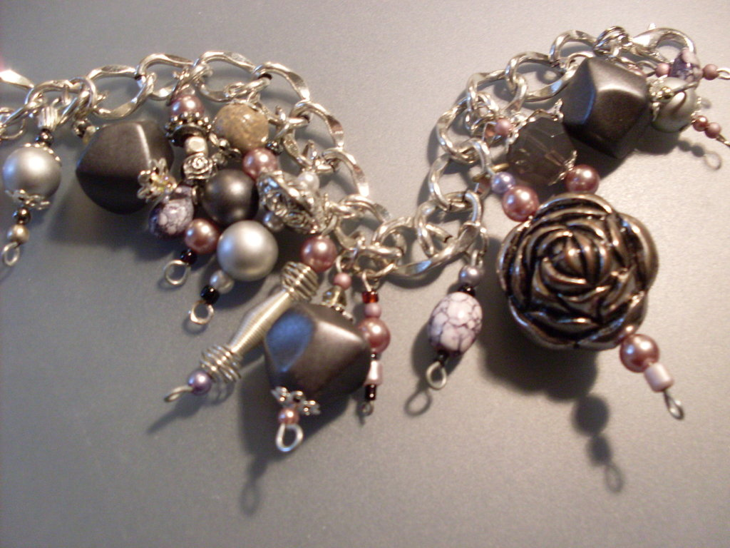 """ SILVER ROSE "" Bracciale glamour"