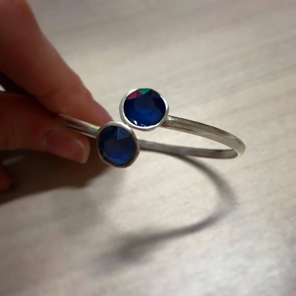 Bracciale rigido doppio - Blu