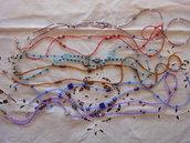 6 Collane per occhiali di vari colori e perline. Lavorazione artigianale