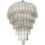 Lampadario in vetro di Murano, con tronchi color fumè, e pezzi di ricambio per lampadari di Venini, Maria Teresa, Mazzega, Barovier, con pezzi rotti, in vetro, personalizzabili