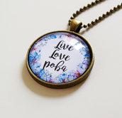 Collana Live Love Poba Blu