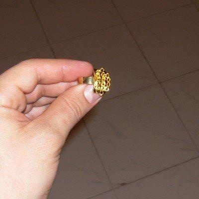 2pz base regolabile dorata per anello