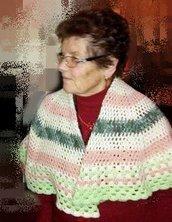 mantellina della nonna, mantella, poncio SU ORDINAZIONE