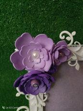 Cornice fiori e legno