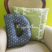 Un cuscino materasso a forma di D per decorare casa: un'originale idea regalo!