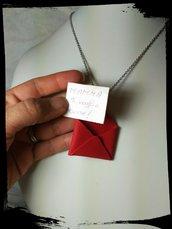 Collana busta Rossa con dedica