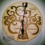 Orologio in legno albero della vita