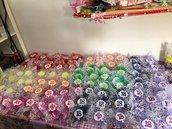Albero della vita con 18 colorato gesso ceramico  e rete per compleanno 18 anni