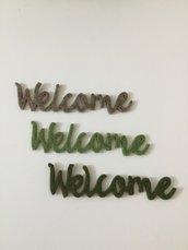"Set ""Welcome"" in feltro di pura lana"