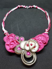 Collana con cerniere Little pink