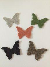 Farfalla di feltro in pura lana 🦋