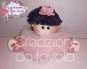 Bambola ballerina con tulle rosa chiaro