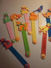 Segnalibri bimbi colorati