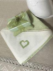Lavette con sapone provenzale, piccolo set da bagno per ospiti, sapone naturale