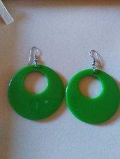 Orecchini dischi verdi