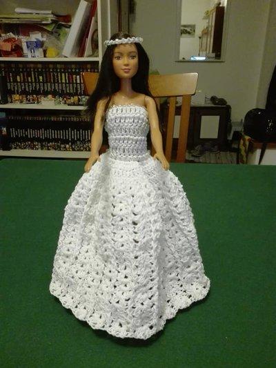 Abito Da Sposa Barbie Bambini Giocattoli Di Uncinettando Fe
