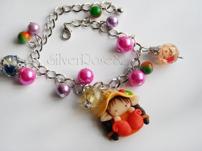 Bracciale follettina multicolore