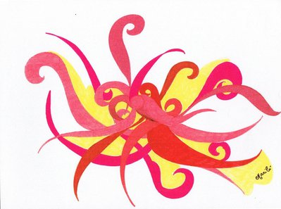 Decorazione disegno su carta