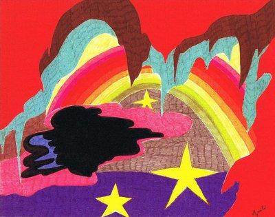 Arcobaleno disegno su carta