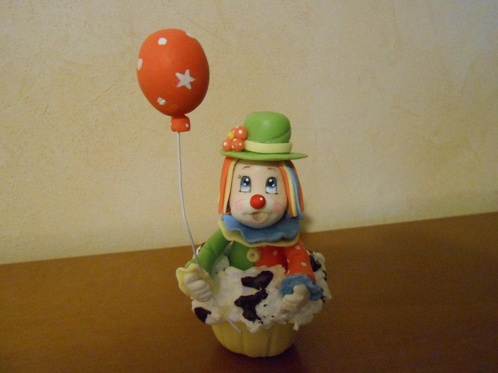 Bomboniera pagliaccio in cupcake