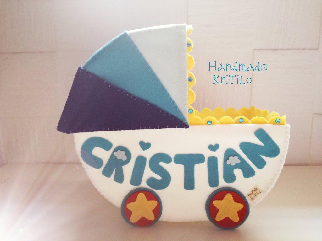 Carrozzina portaconfetti circus Handmade KriTiLo