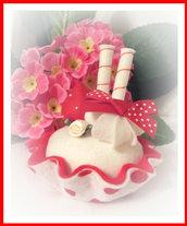hand sewn felt cake decoration pincushion